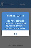 Screenshot of Flores e-Receipt