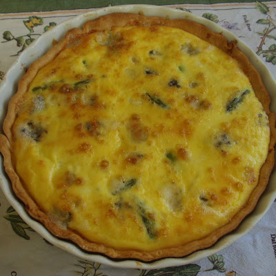 Asparagus and Roquefort Tart