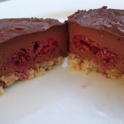Little Dark Chocolate And Raspberry Cheesecakes