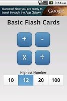 Screenshot of Basic Flash Cards