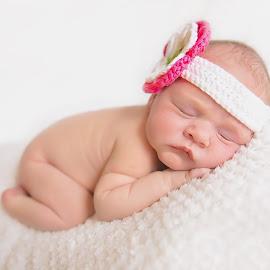 Flower by Helena Lindgren - Babies & Children Babies ( newborn photography, cute baby, newborn shoot, baby girl, flower )
