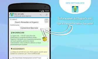 Screenshot of Dizionario dei Rifiuti