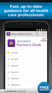Johns Hopkins Psychiatry Guide screenshot for Android
