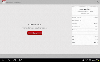 Screenshot of Mobile Pay for Tablet