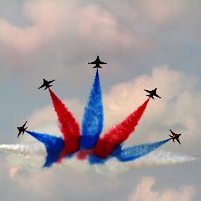 Spread Out by Lolotan Dalimunthe - Transportation Airplanes ( aerobatic, rokaf black eagles, airshow, lolotan, south korea )