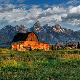 Grand Tetons by Heather Budko Huff - Buildings & Architecture Decaying & Abandoned ( huff photography.net, barns, grand tetons )