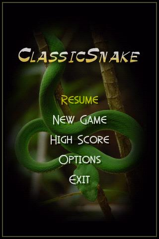 classicsnake for android screenshot