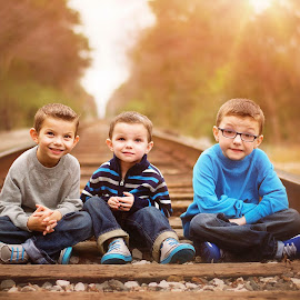 Say Cheese! by Thea Joy - Babies & Children Children Candids ( joyful moments photography by thea, family, railroad, boys, brothers,  )