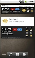 Screenshot of MetService