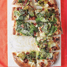 Bacon-and-Escarole Pizza