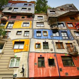 Hunderwasserhaus, Wien by Irena Brozova - Buildings & Architecture Homes