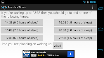 Screenshot of 90night: SleepyTime Calculator