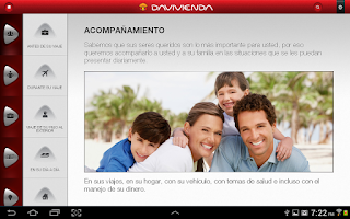 Screenshot of Davivienda App