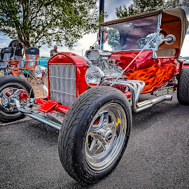 Flames by Ron Meyers - Transportation Automobiles ( 2014 tulsa auto club 7-15-2014 )