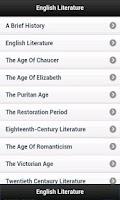 Screenshot of English Literature