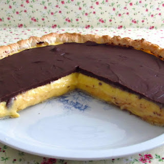 Mango Pie Topped With Chocolate