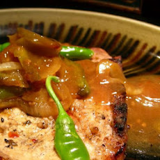 Grilled Pork Chops With Vegetables
