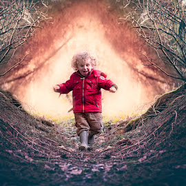 Running from Fire by Dominic Lemoine Photography - Babies & Children Child Portraits