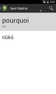 French-Nufi Dictionary - screenshot