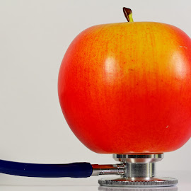 Balance by Dipali S - Artistic Objects Healthcare Objects ( balance, medical, stethoscope, apple, care, medicine, doctor, healthcare )
