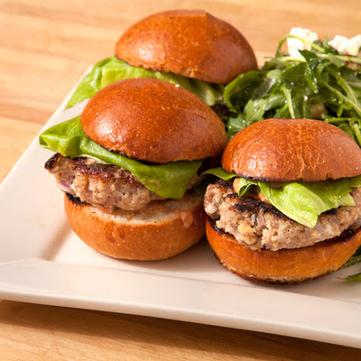 Turkey Burger Sliders with Arugula Salad