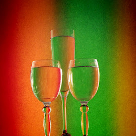 Three glasses by Janette Ho - Artistic Objects Glass (  )