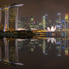 Mirror City by Kafoor Sammil - City,  Street & Park  Skylines ( mbs, mirror city, singapore )