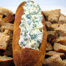 Easy Spinach Bread Dip