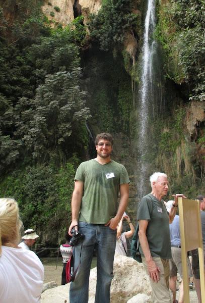 Me at an Ein Gedi Waterfall