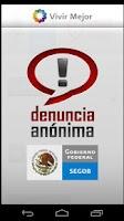Screenshot of Denuncia Anónima