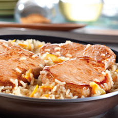 Quick Glazed Pork and Rice Skillet