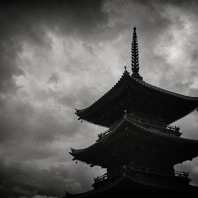 Saidaiji by Kurt K Gledhill - Buildings & Architecture Places of Worship ( temple, okayama, shrine, japan, white, black )