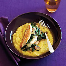 Stuffed Chicken with Rosemary Polenta