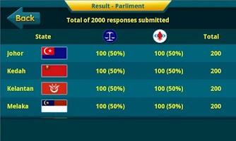 Screenshot of GE-13 Voter Survey