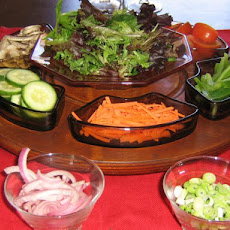 Mini Salad Bar for Picky In-Laws