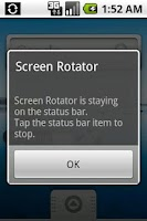 Screenshot of Screen Rotator
