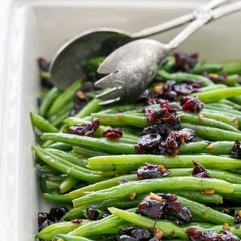Green Beans with Cranberries