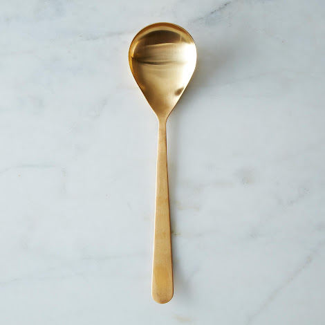 Matte Gold Serving Spoon