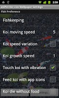 Screenshot of aniPet Koi LiveWallpaper