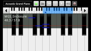 Screenshot of xPiano