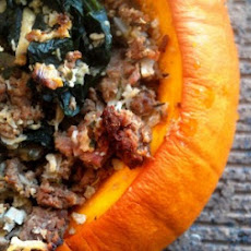Paleo Meaty Rice Stuffed Pumpkins