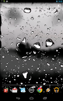 Screenshot of Drops of Rain on Glass