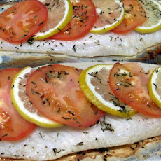 Elegant Baked Fish With Tomato and Lemon