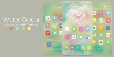 Screenshot of Watercolour GO Launcher Theme