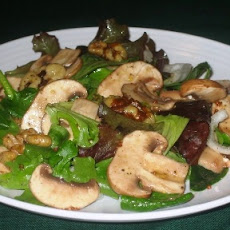 Portabellini & Toasted Walnuts on Greens