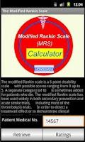 Screenshot of Modified Rankin Stroke scale