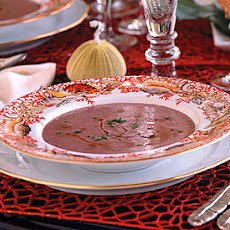 Red Pea Bisque with Rum Flambé