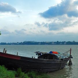 by Subrata Chatterjee - Transportation Boats