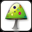 Mushroom doo-dad green icon