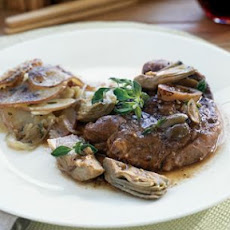 Braised Lamb Chops with Artichokes